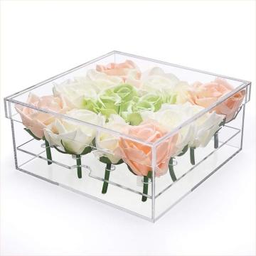 Acrylic Rose Flower Gift Box 16 Slots