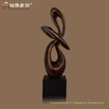 sculpture en abstraction figurative de grande taille pour décoration intérieure