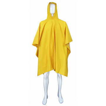 PVC Poncho Raincoat with Hood