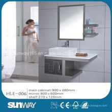 Meuble de salle de bains en acier inoxydable