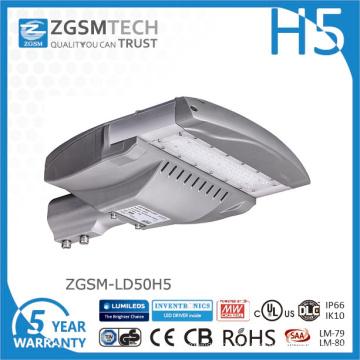 Luz de rua LED 50W barata com chips Philips Lumiled