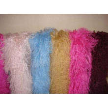 Atmosphärische kundenspezifische handgemachte rote Pelz-Schals für Frau