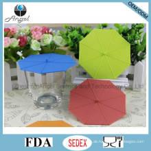 Beliebte Umbrella Silikon Tee Tasse Deckel Silikon Cup Cover SL10