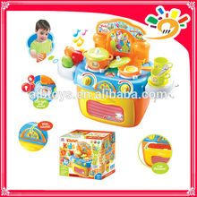 2014 nouveaux produits jouet enfant LIGHT MUSIC KITCHENWARE STOCKAGE BOX COOKING SET FOR DIVERTISSEMENT