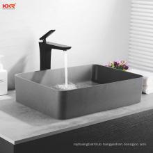 one piece artificial stone bathroom sink and countertop wash basin