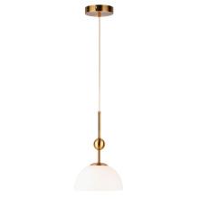 Белый стеклянный абажур полукруглый подвесной светильник