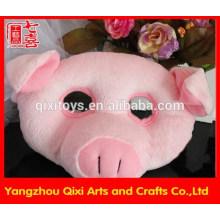 Meilleure vente en peluche animal tête masque facial masque de porc masque en gros animal