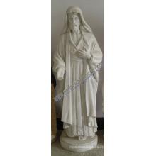 Sculpture en pierre sculptée Statue en marbre de Jésus pour la sculpture religieuse (SY-X1400)