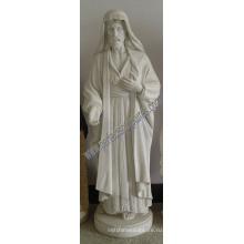 Резная резьба по камню Мраморная статуя Иисуса для религиозной скульптуры (SY-X1400)