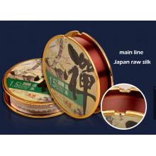 Linha de nylon de seda crua super de Japão da linha de pesca de Tension e linha principais