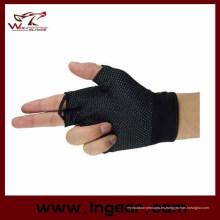Venta caliente táctico medio dedo guantes Airsoft guantes militares