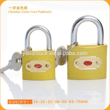 China Cheap Golden Color Iron Padlock