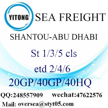 Shantou Port Sea Freight Shipping ke Abu Dhabi