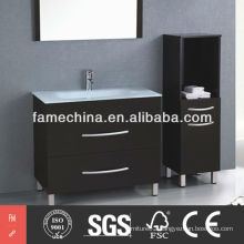 2013 Glass Basin Floor Standing Modern Bathroom Furniture