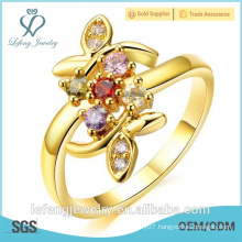Quality jewelry gold plated yellow gold diamond engagement rings