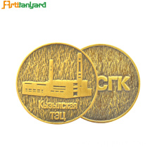 Precious Metal Coin with embossed Logo