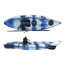 Plástico plástico vendendo único sentam-se no caiaque superior da pesca da canoa, barco (M02)