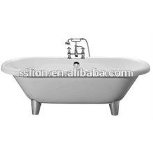 Классическая акриловая белая автономная ванна с четырьмя ножками