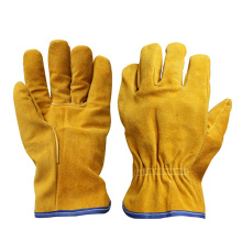Cow Split Leather Drivers Working Gloves for Driving