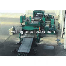 High speed cut to length line for cold roll steel/carbon steel