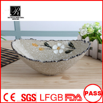 High Quality Ceramic Salad Bowl/China cheap Salad Bowl/Big Salad Bowl