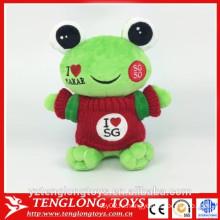2016 новый продукт фаршированная лягушка игрушка плюша лягушка игрушка