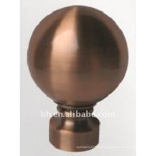 Neues Design Alluminun Legierung Ball Vorhang Stange Finial