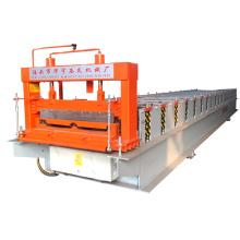 Botou hebei xinnuo 760 stehender naht metall dachplatte selbstverriegelung stahl dachblech fliesen roll formmaschine