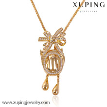 41443-Xuping beautiful women gold sweater necklace online China shop