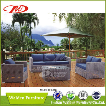 Big Rattan Woven Outdoor Sofa