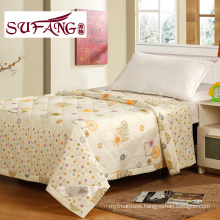 Factory Directly 100-percent cotton printed quilt cheap polyester quilt full