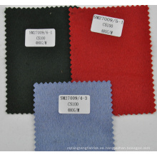 Tela de lana 100% de cachemir azul claro con revestimiento de lana azul claro