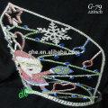 New designs rhinestone royal accessories wholesale tiara Santa Claus crown