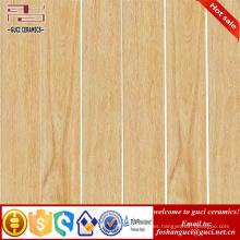 fábrica de suministro de piso de la tienda y diseño de azulejo de la pared azulejo de madera rústica esmaltada de cerámica