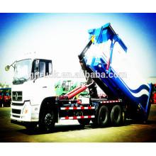 6X4 drive Dongfeng compactador de basura vertical hidráulico / compactador de basura hidráulico integrado