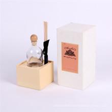 Tapa de papel respetuosa del medio ambiente y embalaje de caja cosmético base para perfume