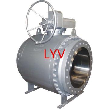 Válvula de bola completamente soldada con autógena del acero inoxidable del fabricante profesional usada para el abastecimiento de agua y el campo petrolífero