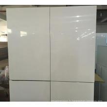 Carcasse en mélamine blanche avec portes brillantes pour armoires de cuisine (personnalisées)