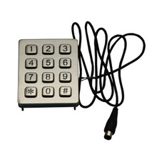 Pin connector wireless numeric vending machine backlit keypad