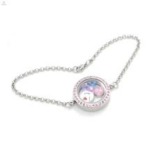 2018 Bonne qualité nouveau bracelet en acier inoxydable, mémoire pendentif flottant pendentif bracelet pour les femmes