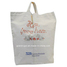 Natural Light Canvas Tote Bag with Silk Screen Printing