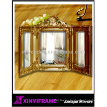 Decorative charming wood frame silver compact enlarge mirror