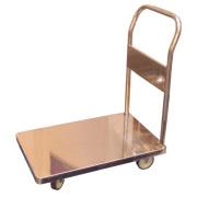 Carro plataforma plegable de acero inoxidable