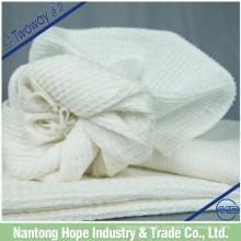 Torchon 100% coton fabriqué en pur coton blanc