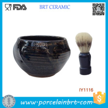 Wholesale Deep Blue Masculine Ceramic Shaving Bowl