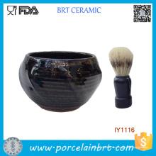 Tigela de Barbear Cerâmica Masculina Deep Blue