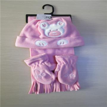 아이 장갑 모자와 스카프 세트