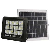 Solar floodlight that can controlled in three ways