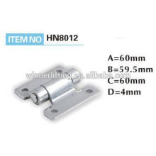 Metal hinge for container