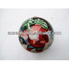 75mm de cristal claro ornamentos bola de granel